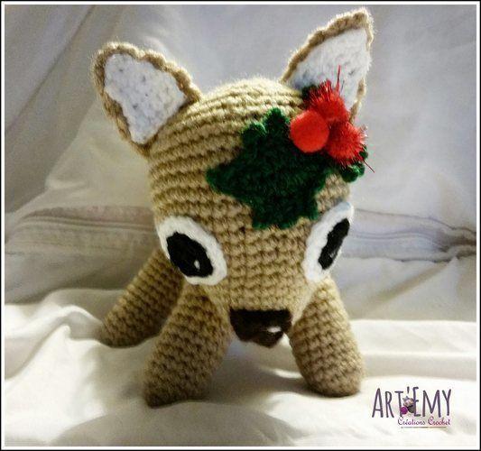 Makerist - MYCKI, le petit faon; doudou en crochet spécial Noel - Créations de crochet - 2