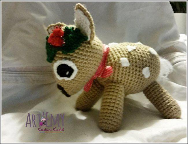 Makerist - MYCKI, le petit faon; doudou en crochet spécial Noel - Créations de crochet - 3