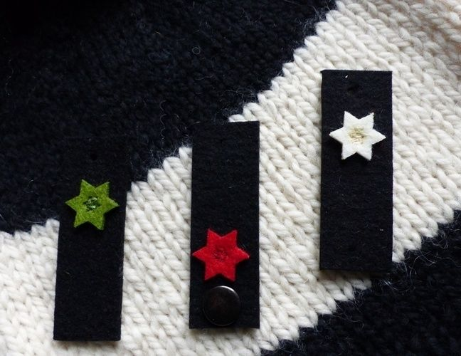 Makerist - Filz-Label mit kleinen Sternen in grün - Filzprojekte - 3