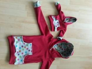 Makerist - Kinder-Hoodie im Partnerlook mit der Puppe  - 1