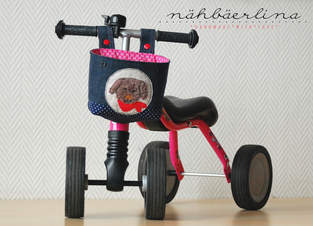 Lenkertasche für Puky (oder Kinderfahrrad) genäht von nähbäerlina