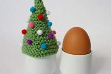 Makerist - Christmas Tree Egg Cosy - 1