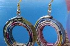 Makerist - Ohrringe aus Papier - Kreolen Papier-Recycling - 1