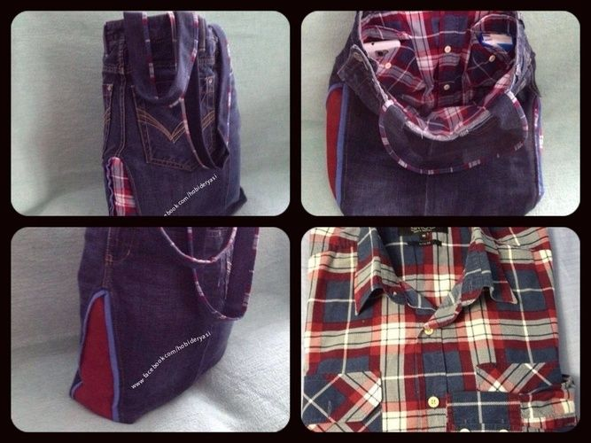 Makerist - Jeanshose+Hemd zu Tasche umgenâht - Nähprojekte - 1