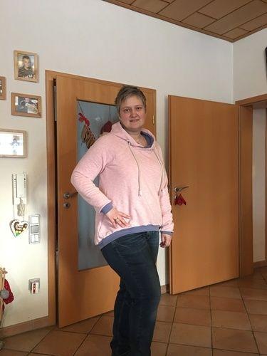 Makerist - Große Vani in rosa Vintagesweat - Nähprojekte - 1