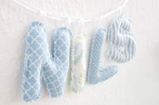 Makerist - Buchstabenkette fürs Babyzimmer - 1