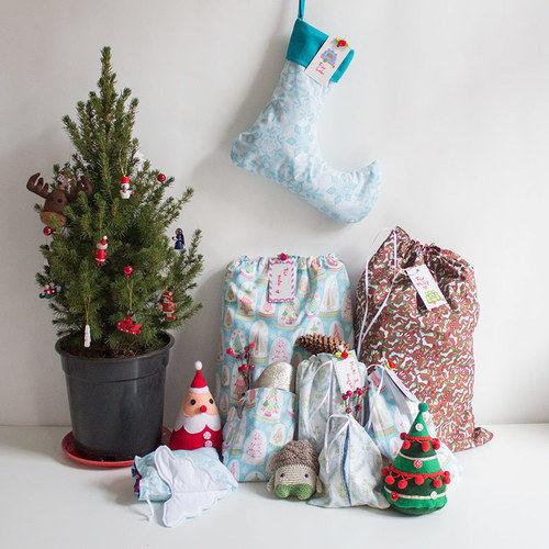 Makerist - Wiederverwendbare Geschenkverpackungen zu Weihnachten - Nähprojekte - 1