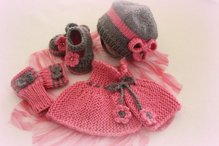 Makerist - Erstlingsset für eine kleine Prinzessin - Strickprojekte - 1