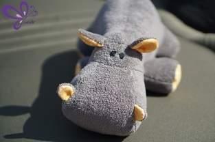 Nilpferd - grau, kuschelig, zum Anbeißen süß