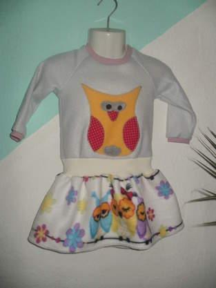 Winterkleid aus Fleece für K.