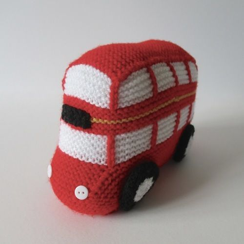 Makerist - London Bus - Knitting Showcase - 1