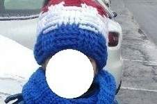 Makerist - Bonnet Bleu Blanc Rouge au point de vannerie et son snood assorti - 1