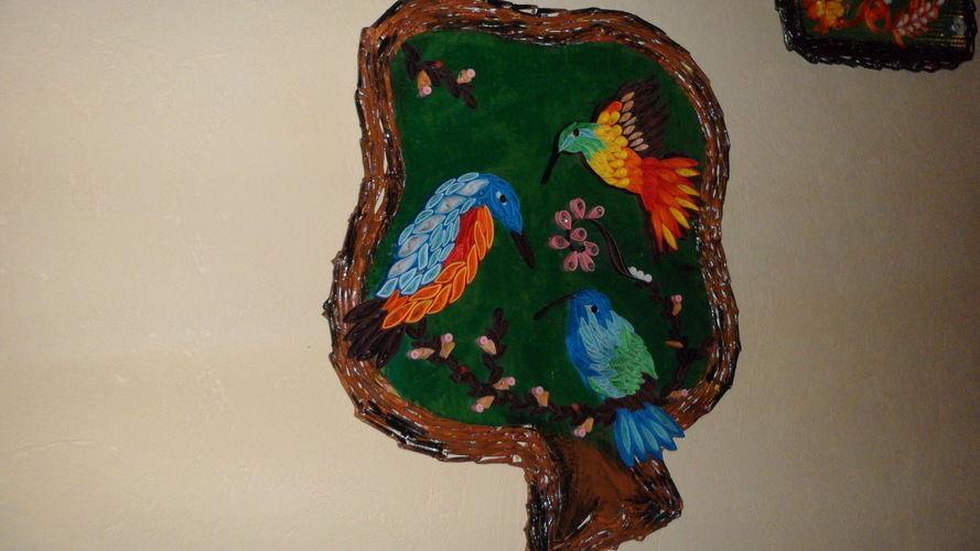 Makerist - Vannerie Colibris en Quilling - Autres créations - 1