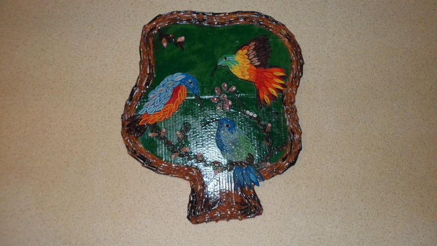 Makerist - Vannerie Colibris en Quilling - Autres créations - 2