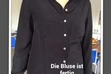 Makerist - Bluse für mich! ☀aus einem flutschigem Material. Dank der tollen Anleitung hat aber alles super geklappt! ❤️ - 1