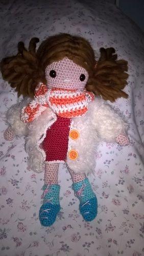 Makerist - das ist Klara mit dickem Mantel und Schal - Häkelprojekte - 2