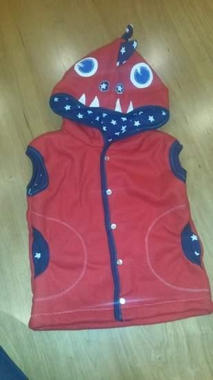 Fleeceweste Roter Drache für meinen Sohn (2)