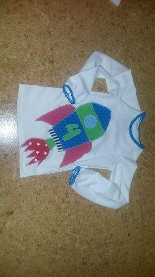 Raketengeburtstagsshirt für eine 4jährige!