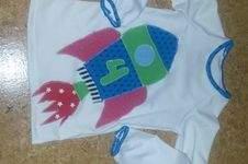 Makerist - Raketengeburtstagsshirt für eine 4jährige! - 1