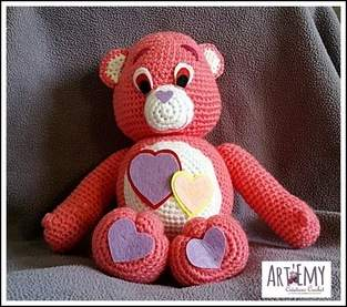 Un Bisounours d'Amour pour la Saint Valentin