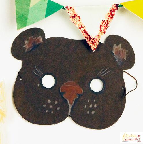 Makerist - Bären Maske zum Selbermachen - DIY-Projekte - 1