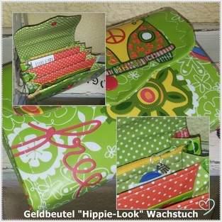 Makerist - Geldbeutel Hippy-Style- Wachstuch&Stoff - 1
