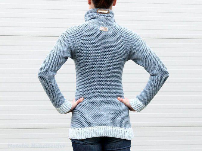 "Makerist - Hoodie ""Jeans"" - Häkelprojekte - 3"