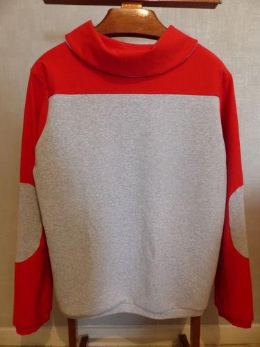 Makerist - Sweat bi-goût rouge et gris - Créations de couture - 2