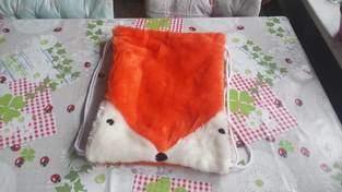 """Rucksack """" Fuchs"""" , aus Fleecestoff genäht, für meine Tochter und Enkelin"""
