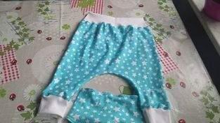 Pumphose und Halstuch aus Jersey für meine Enkelin