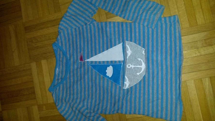 Makerist - Applikation Segelschiff auf gekauftem Shirt - Nähprojekte - 1