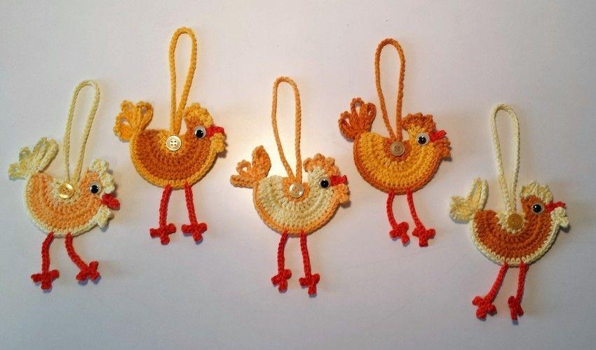 Makerist - Hühner für den Osterstrauß - Häkelprojekte - 2
