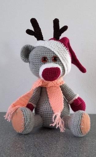 Makerist - Weihnachtsrenntierteddy :) - 1