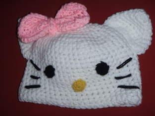 Hello Kitty Mütze für meine Tochter