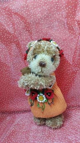 Makerist - Petite oursonne fleurie faite entièrement au crochet - Créations de crochet - 2