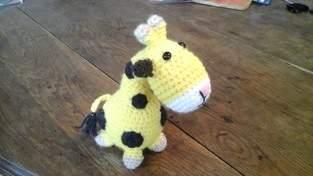 Olaf la Gigi tricotée au crochet pour mon petit fils Aymeric