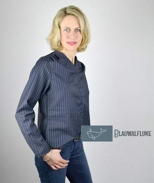 Makerist - Bluse Bellah von Prülla aus Nadelstreifen - 1