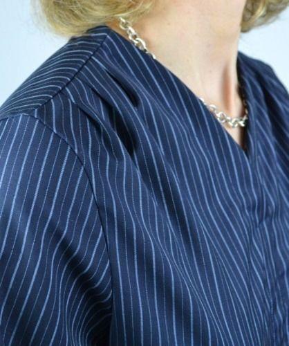 Makerist - Bluse Bellah von Prülla aus Nadelstreifen - Nähprojekte - 3