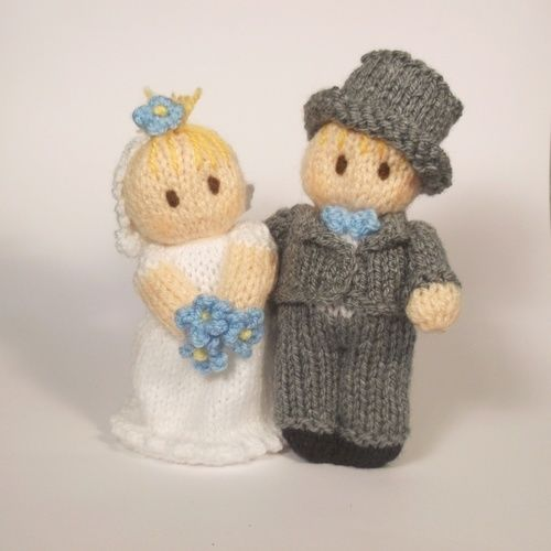 Makerist - Bride and Groom Bitsy Babies - Knitting Showcase - 2