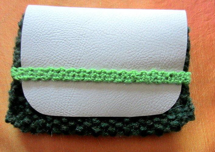 Makerist - Pochette tricot et simili cuir - Créations de tricot - 1
