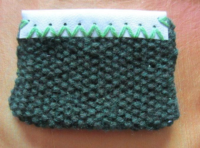 Makerist - Pochette tricot et simili cuir - Créations de tricot - 2