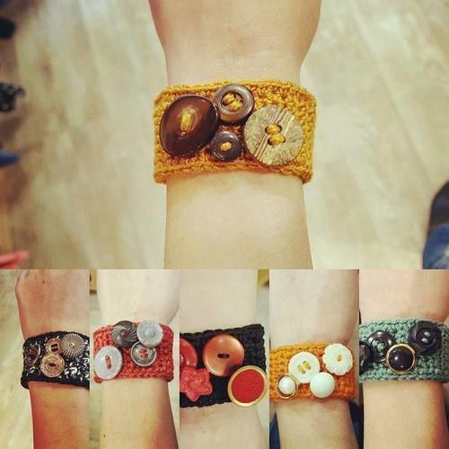 Makerist - Bracelet au crochet avec boutons fantaisie - Créations de crochet - 1