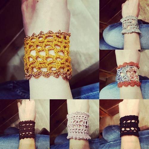 Makerist - Bracelet manchette au crochet - Créations de crochet - 1
