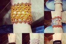 Makerist - Bracelet manchette au crochet - 1