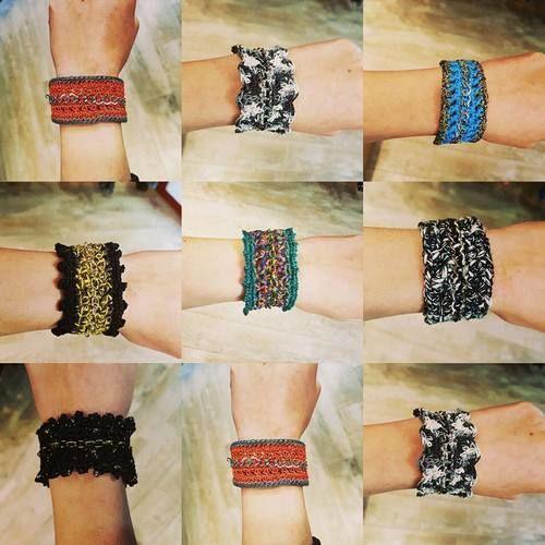 Makerist - Bracelet au crochet sur chainette - Créations de crochet - 1