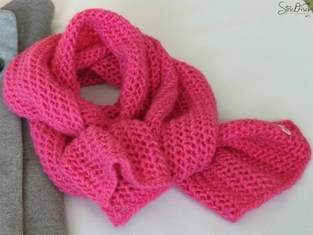 Makerist - Pinker Globstrickschal - 1