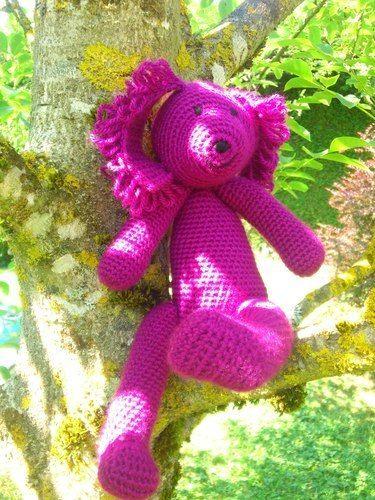 Makerist - Petit chien violet. En laine au crochet.  - Créations de crochet - 1