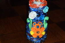 Makerist - Vannerie Vases en Rotin (papier journal) et ourson en quilling - 1