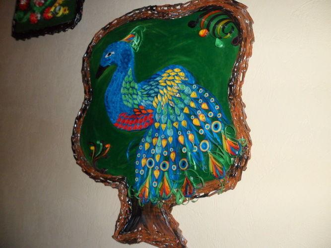 Makerist - Vannerie Paon en Quilling cadre (papier journal) - Autres créations - 1