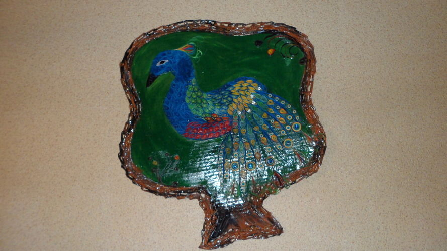 Makerist - Vannerie Paon en Quilling cadre (papier journal) - Autres créations - 2
